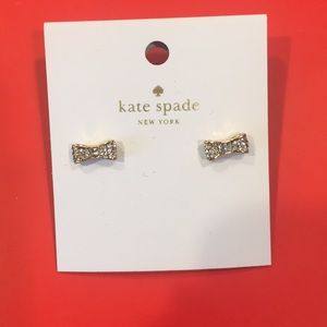 Kate Spade diamond bow earrings